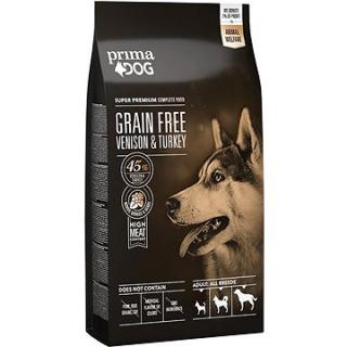 PrimaDog Zvěřina s krůtou bez obilovin, pro dospělé psy s citlivým trávením, 10 kg