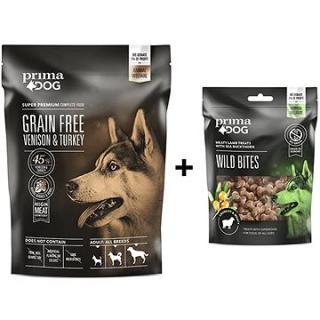 PrimaDog Zvěřina s krůtou bez obilovin, pro dospělé psy s citlivým trávením 1,5 kg   Pamlsek 100 g