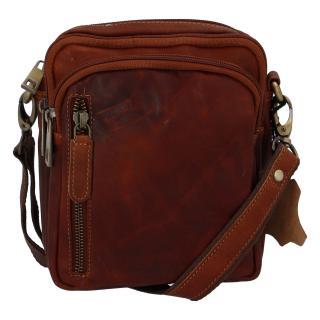 Přírodní koňaková pánská kožená taška na doklady - Tomas Svemir pánské