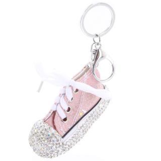 Přívěsek na kabelku růžový - teniska dámské