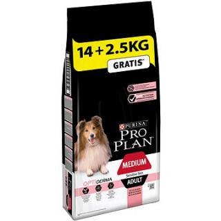 Pro Plan medium adult optiderma s lososem 14 kg   2,5 kg