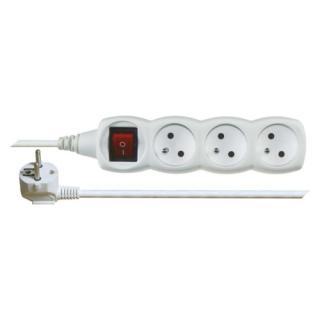 Prodlužovací kabel EMOS 1,2m/3zásuvky s vypínačem bílá P1311 1902130121