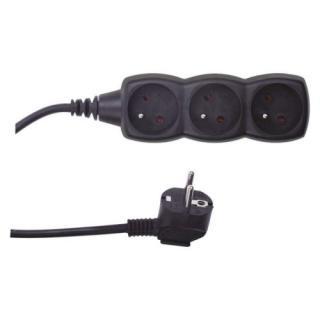 Prodlužovací kabel EMOS 1,5m/3zásuvky černá PC0311 1902230160