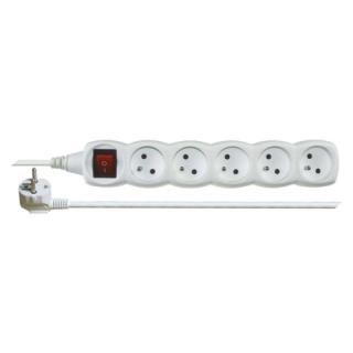 Prodlužovací kabel EMOS 2m/5zásuvek s vypínačem bílá P1512 1902150200