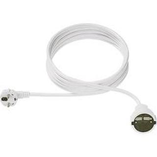 Prodlužovací kabel s ochrannou úhlovou zástrčkou Bachmann Electric, 3 m, bílá