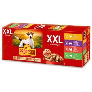 Propesko Kapsička kuřecí, hovězí, krůtí, jehněčí 24 × 100 g