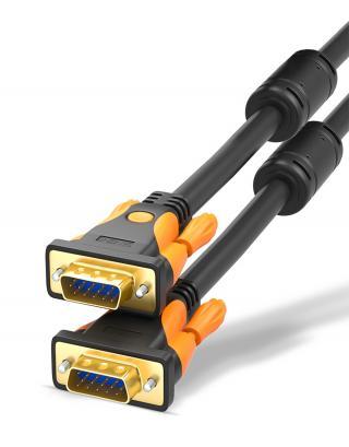 Propojovací VGA kabel k monitoru - 2 barvy Barva: žlutá, Typ: 1,5 m