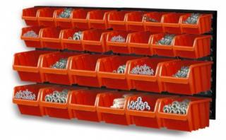 PROSPERPLAST Prosperplast NTBNP3 ORDERLINE nástěnný organizér s 30 boxy