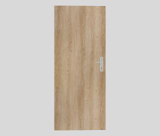 Protipožární dveře Naturel Technické pravé 80 cm jilm DPOJ80P dřevodekor jilm