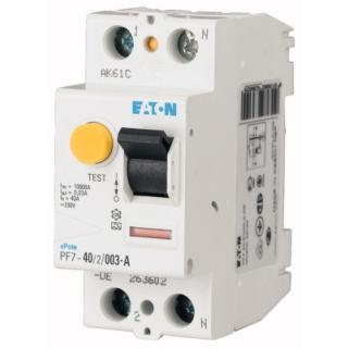 Proudový chránič EATON PF7-40/2/003-A 40A 30mA A 263602
