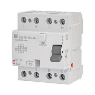Proudový chránič ETI EFI-P4 AC 63/0,03