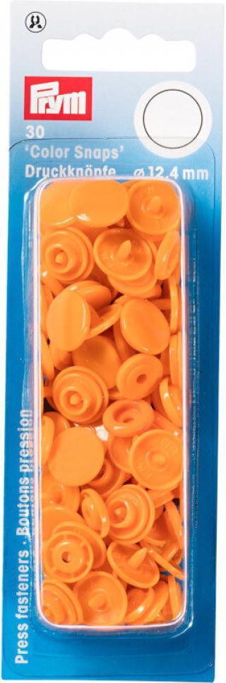 PRYM Zacvakávací knoflíky Color snaps Oranžová 12,4 mm Orange