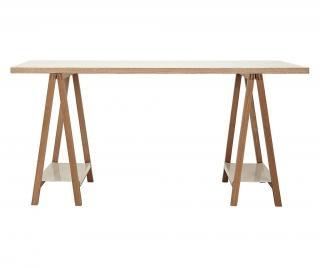 Psací stůl Highbury Trestle Krémová