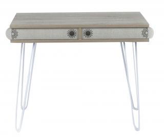 Psací stůl Illia Creamy Krémová