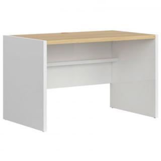 Psací stůl Princeton S406-BIU/120 Black Red White Bílý lesk