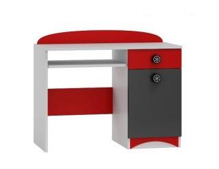 Psací stůl SPEED ABS B10 bílá | grafit | červená