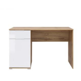 Psací stůl ZELE_BIU/120 Black Red White Dub wotan