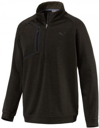 Puma Envoy 1/4 Zip Mens Sweater Forest Night XS pánské Green XS