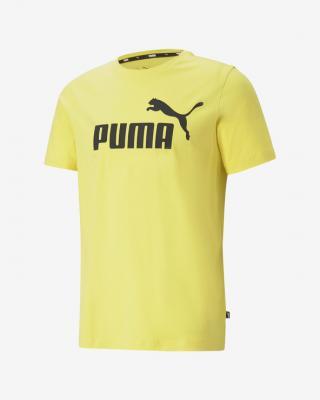 Puma Essentials Logo Triko Žlutá pánské S