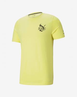 Puma Graphic Streetwear Triko Žlutá pánské S