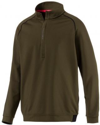 Puma PWRWARM 1/4 Zip Mens Sweater Forest Night M pánské Green M