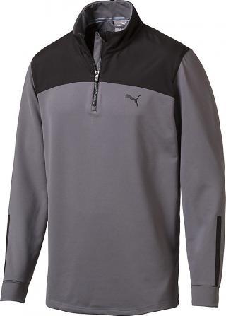 Puma PWRWARM 1/4 Zip Mens Sweater Quiet Shade XL pánské Grey XL