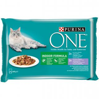 Purina ONE Multipack INDOOR minifiletky MIX 4x85g