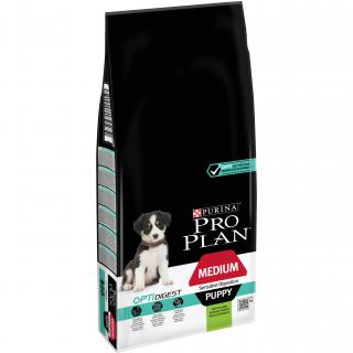 Purina Pro Plan Dog OptiDigest Medium Puppy Sensitive Digestion jehně 12kg