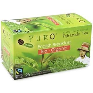Puro Fairtrade BIO čaj porcovaný Breakfast černý 25x2g