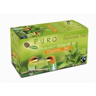 Puro Fairtrade BIO čaj porcovaný organický mátový, 25x1,5g