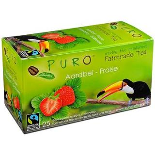 Puro Fairtrade čaj porcovaný s jahodami 25x2g
