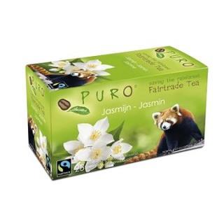 Puro Fairtrade čaj porcovaný zelený jasmínový 25x2g