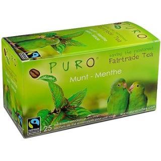 Puro Fairtrade čaj porcovaný zelený s mátou 25x2g