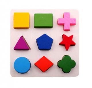 Puzzle - Geometrické tvary Varianta: 1