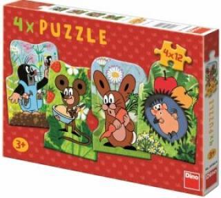 Puzzle Krteček - 4x12 dílků