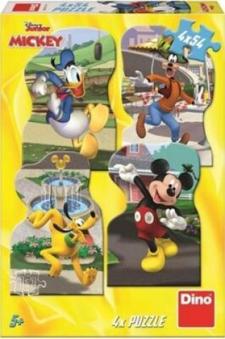 Puzzle Mickey ve městě 4x54 dílků