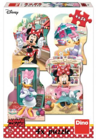 Puzzle Minnie a Daisy v létě 4x54 dílků