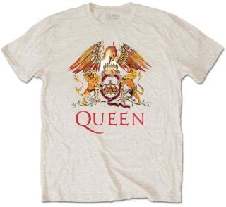 Queen Tričko Classic Crest Grafika-Krémová-Natural S S