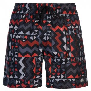 Quiksilver Check Knock Board Shorts Mens pánské Rio Red | Other S