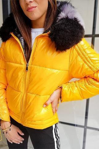 Quilted womens jacket SEPHIA yellow TY1446 dámské Neurčeno S