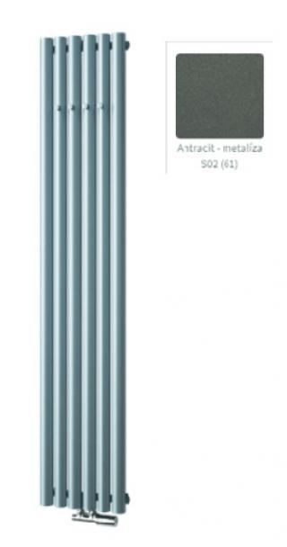 Radiátor ISAN AKROS 180x35cm s háčky antracit DAKH18000350A