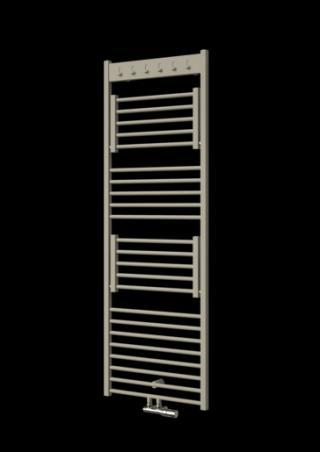 Radiátor ISAN Flexi s háčky 155,5x60 cm světle šedá DFLH15550600SSE šedá světle šedá