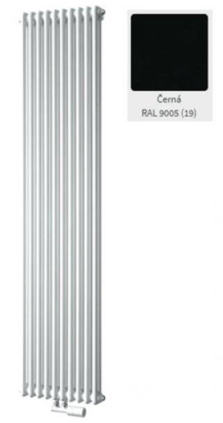 Radiátor pro ústřední vytápění ISAN Atol C2 150x39,8cm černý CAT21500008GCS černá