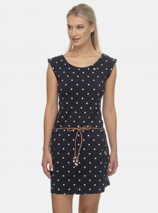 Ragwear tmavě modré puntíkované šaty - S dámské modrá S