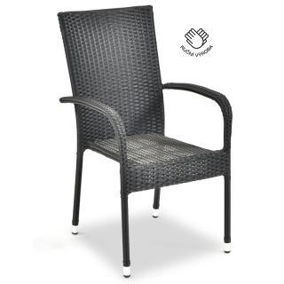 Ratanová zahradní židle DT151 antracit