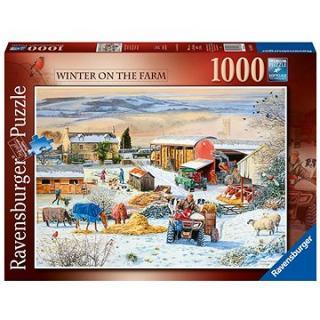 Ravensburger  164783 Zima na farmě 1000 dílků