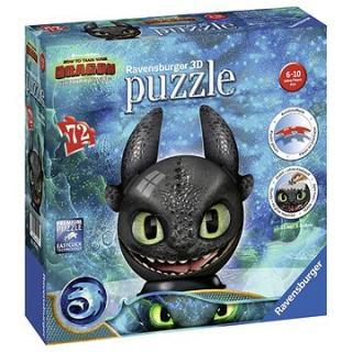 Ravensburger 3D 111459 Puzzle-Ball Jak vycvičit draka 3: Bezzubka