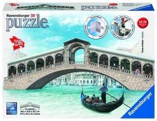 RAVENSBURGER Rialto most, Benátky 216 dílků 3D mix barev
