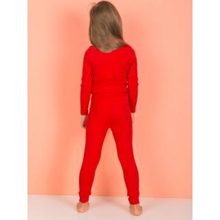 Red leggings for girls dámské Neurčeno 5-6 Y