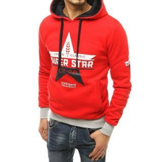 Red mens hooded sweatshirt BX4801 pánské Neurčeno XXL